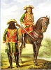 Кавалергардский литаврщик и кавалергард 1724
