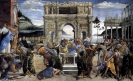 Наказание Корея, Дафана и Абирона, фреска, 1481-1482