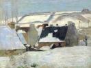 Бретонская деревня в снегу  1888, Музей искусств, Гетеборг