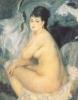 Нагая женщина, сидящая  на кушетке, 1876